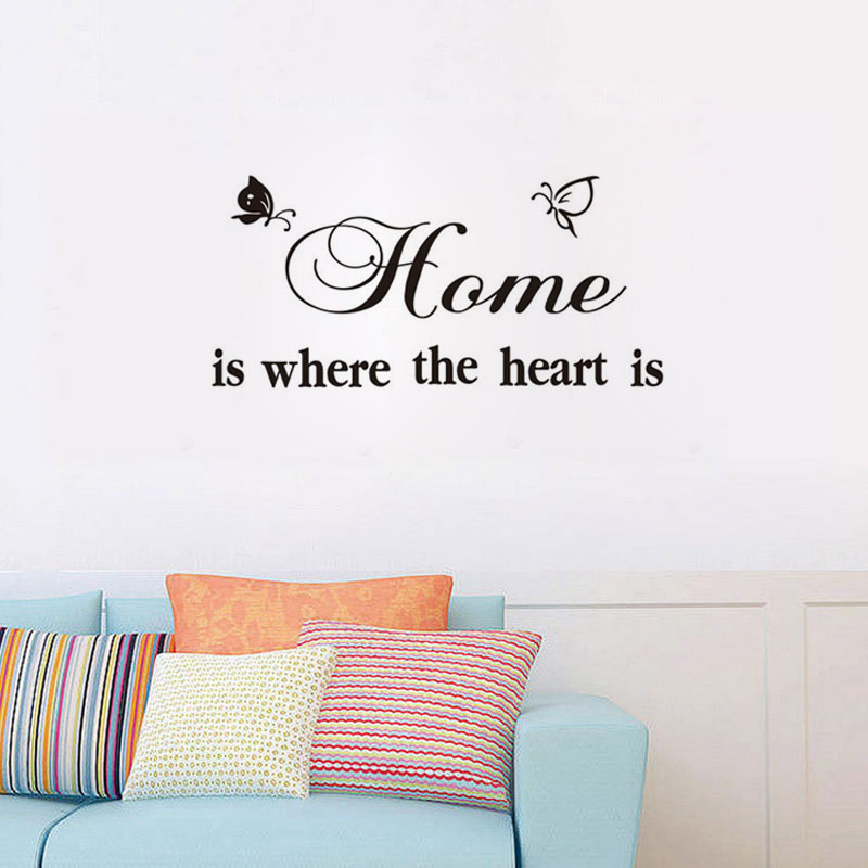 Home Is Where The Heart Is Adhesive Wallpaper Home Decor Stickers
