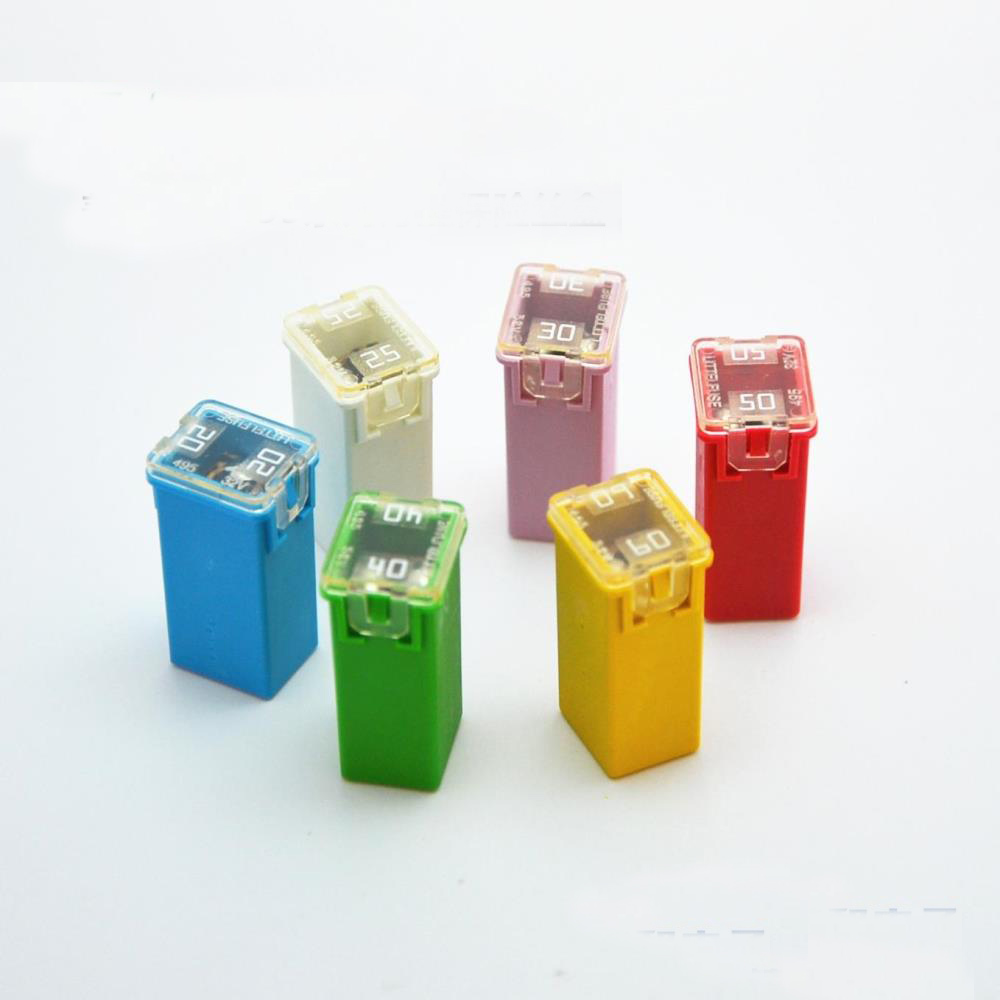 free shipping 10pc littelfuse 495 series square car fuse box cartridge fuse  car auto fuse for
