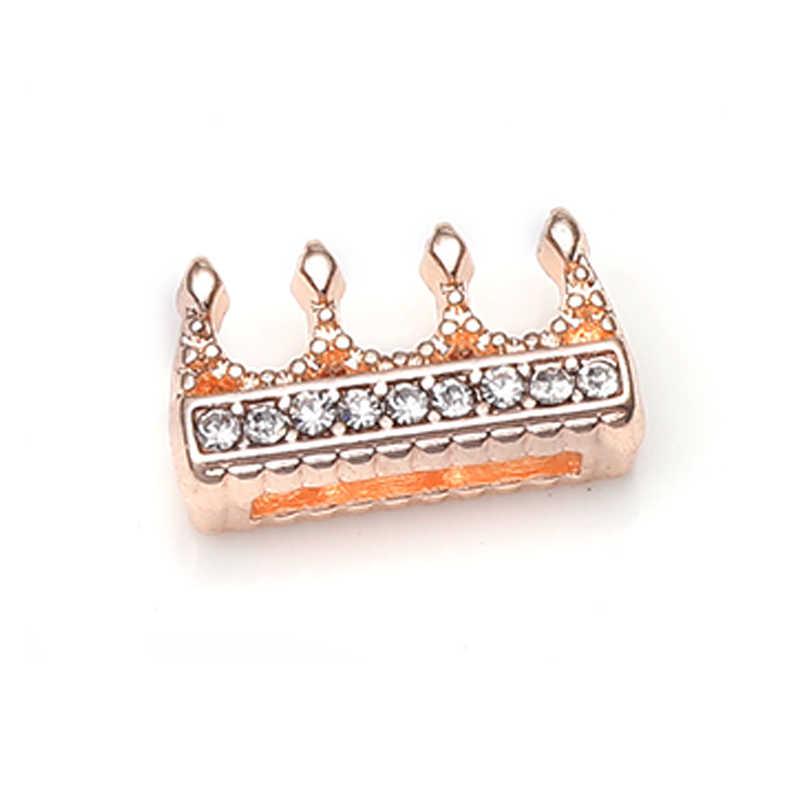 TOGORY 2019 moda korona kryształowe Charms Shining bransoletki pasuje 10 mm DIY Pandora bransoletki z siatki bransoletki biżuteria jak kobiety prezenty