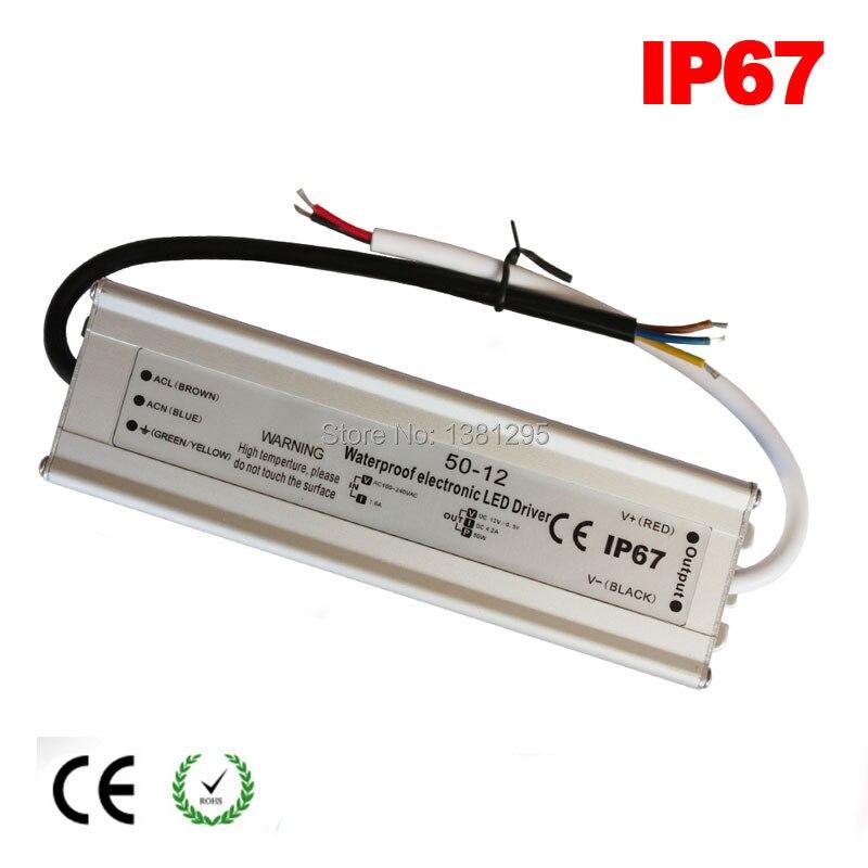 24 V DC 12 V fuente de alimentación Transformador electrónico 12 W 20 W 30 W 40 W 50 W 60 W 80 W LED controlador de lámpara IP67 alimentation 5A 220 12 V tira de