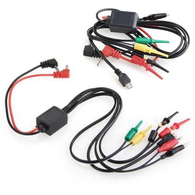 Universal 60cm Digital Multimeter Test Lead Cable With Alligator Clips Hook Banana Plug Power Kit
