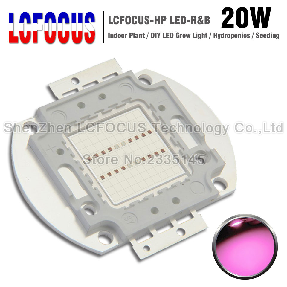 LED Grow Light 20W Deep Red 660NM + Royal Blue 440NM COB SMD Diode Lamp Bulb For Indoor Plant Vegetables Herb Seeding Growing