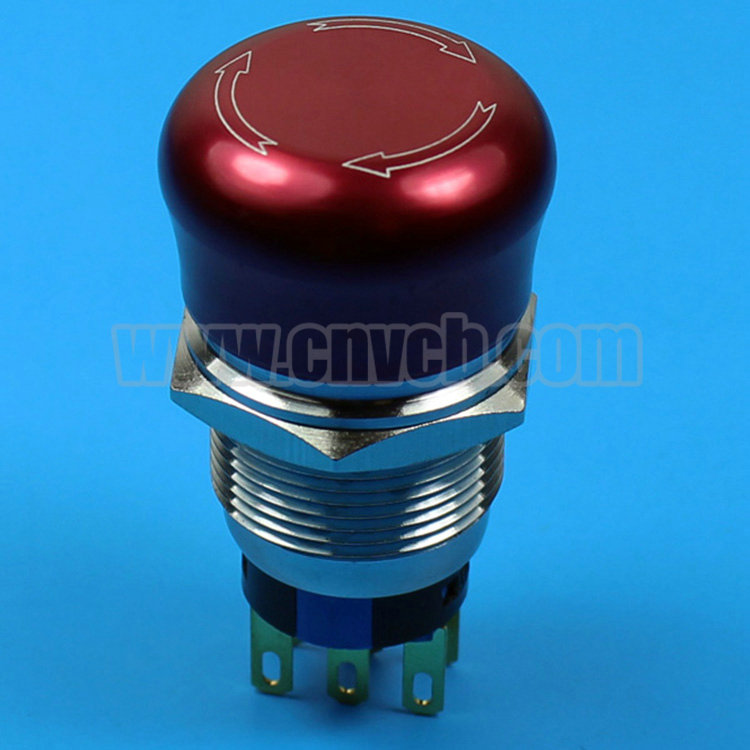 TY 2219S2 22mm CE ROHS 1NO1NC RED new style waterproof emergency stop push button switch