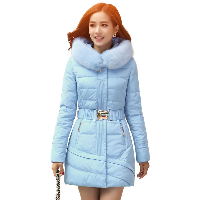Elegant Winter Coats And Jackets For Women Large Size Slim Mid-Long Parkas Cotton Padded Coat Womens Thicken Warm Quilted Jacket winter women parkas solid color mid long section large size thicken down cotton jackets fashion hooded slim cotton coats ly0254