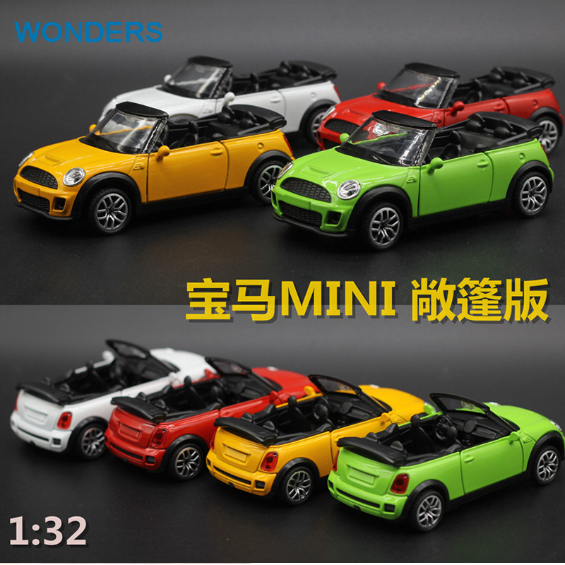 High Simulation Exquisite Kid Toys New \ Original Convertible Mini Cooper S Model 1:32 Alloy Convertible Car Model Gifts