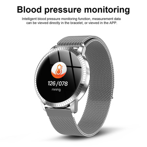 "Image 5 - SCOMAS New Fashion CF18 Smart Watch 1.22""IPS Tempered Glass Heart Rate Blood Pressure Monitor Multi Sport Women Band Smartwatch"