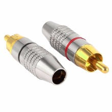 2Pcs/1Pair RCA Connector RCA Male Plug Adapter Connector RAC Plug Audio Video Locking Connectors Speaker Plug цена