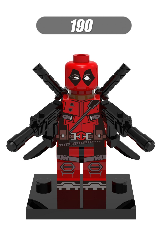 100pcs XH190 Super heros Marvel Deadpool With Weapons Building Block Sets figure Model DIY TOYS Bricks