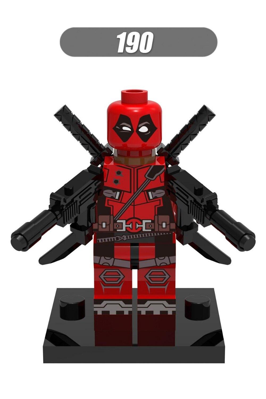100 sztuk XH190 Super heros Marvel Deadpool z broni Building Block ustawia model figurki DIY zabawki cegły zabawki w Klocki od Zabawki i hobby na  Grupa 1