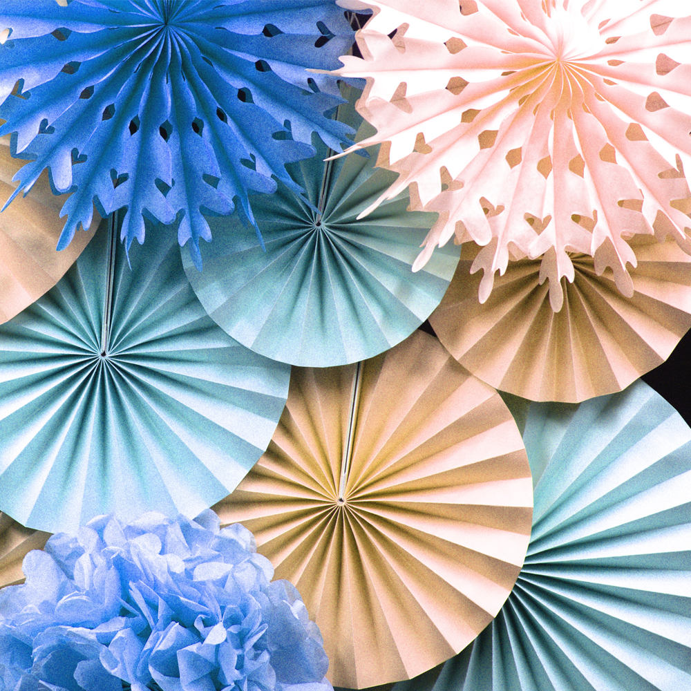 Online buy wholesale origami flowers wedding from china origami panduola round paper fans colorful paper flowers origami wedding home baby shower birthday party decorations dhlflorist Image collections