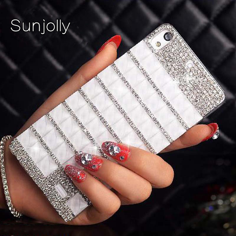 Sunjolly Rhinestone Case Diamond Bling Cover coque fundas capa for Samsung Galaxy J1 J2 J3 J5 J7 2016 2017 J510 J710 J520F J720F