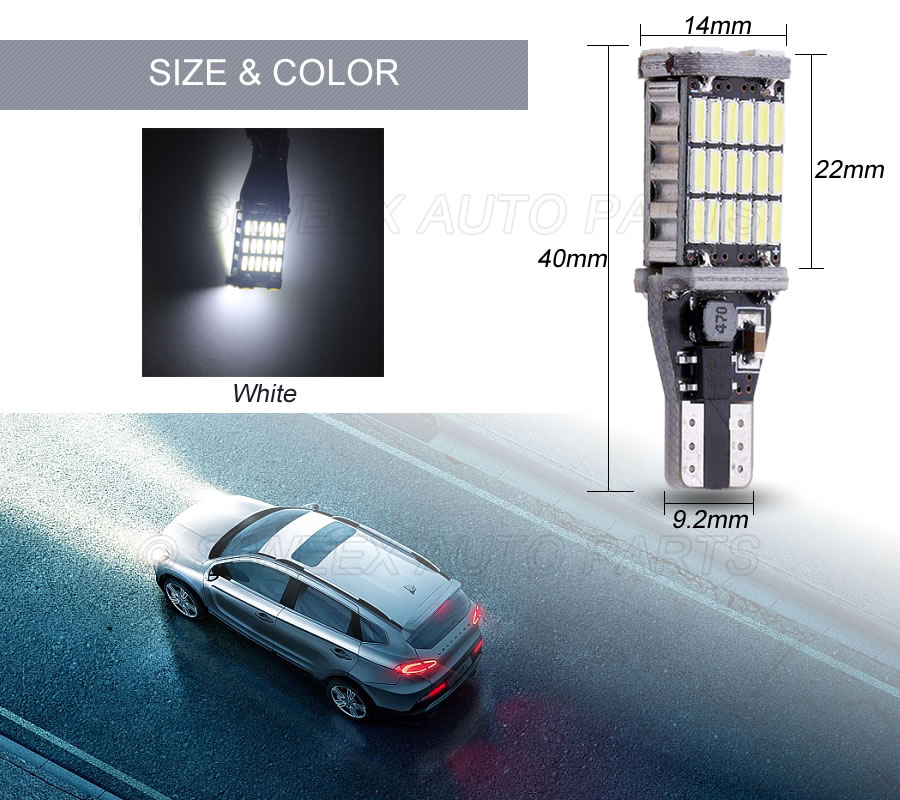 HTB1rY2LoAKWBuNjy1zjq6AOypXaE T15 W16W 921 Super Bright High Power 45 SMD 4014 LED Canbus No ERROR Car Backup Reserve Lights Bulb Brake Lamp Xenon White