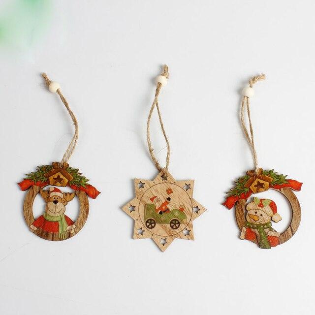 12 יחידות חג המולד סנטה קלאוס ושלג עץ תליוני תליית קישוטי עץ חג המולד ילדי מתנת חג המולד קישוט לבית