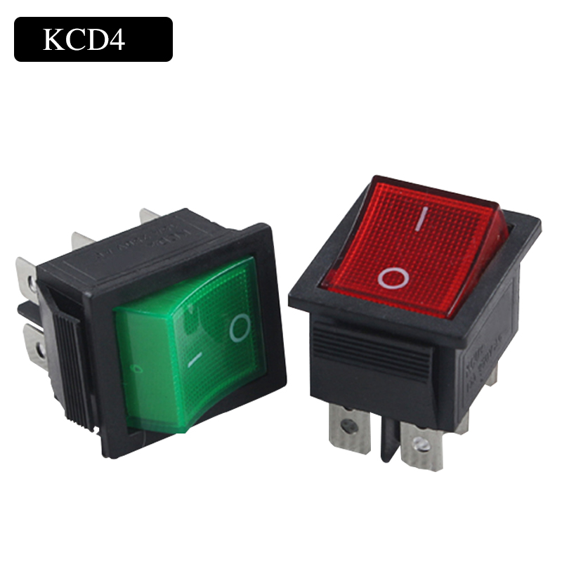 free shipping 2 positions rocker switch with light power on off ...