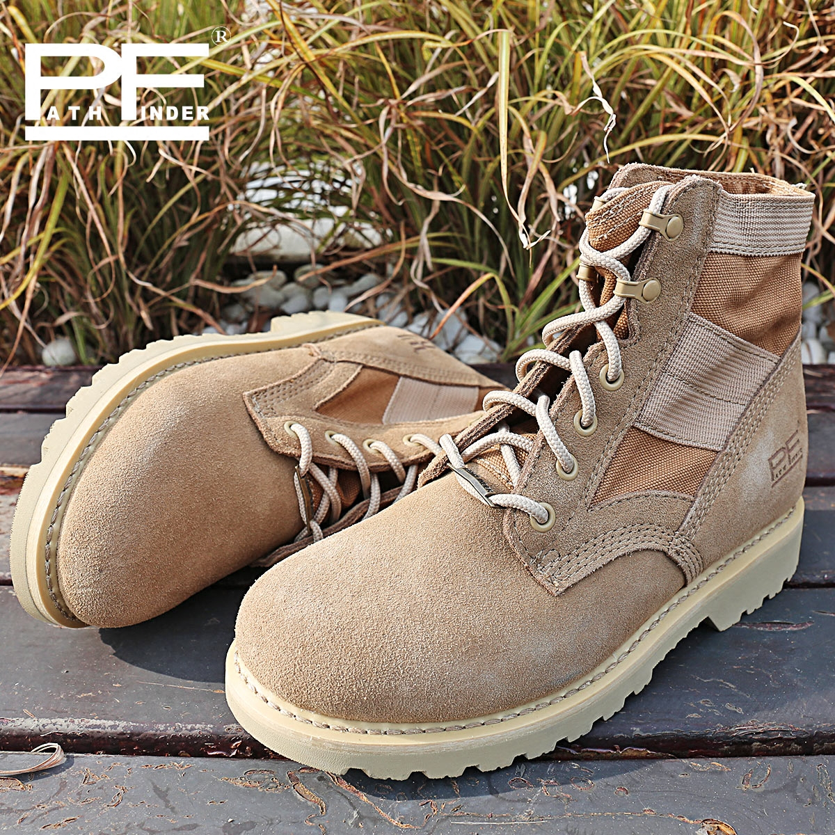 Pathfinder New America Army Men s Botas Desert Outdoor Hiking leather Botas Military Enthusiasts Marine Male