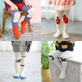 2016rNew Mini dressing Korea Cartoon cartoon Baby Girl Tights Cotton Cute Children Stocking Baby Pantyhose For Kid 0-4Years