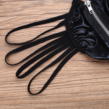 Gay Patent Leather Strappy Zippered With Bulge Pouch Panties