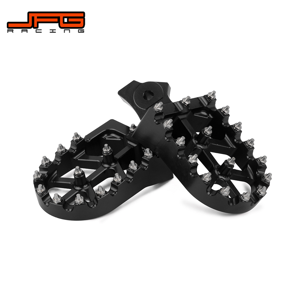 medium resolution of motorcycle cnc footpegs footrest foot pegs for honda xr50r xr70 xr80 xr100 2000 2005 kawasaki klr650 1987 2005