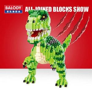 Image 3 - Balody Dinosaur Tyrannosaurus Rex Velociraptor Animal Monster 3D Model DIY Diamond Mini Building Blocks Toy for Children no Box