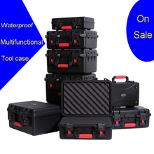 цена на Outdoor Protective Safety Case Shockproof Waterproof Boxes Plastic Tool Box Dry Box Safety Equipment Tool Storage with foam