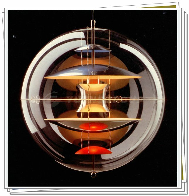 Verner Panton Lampe Globe Brugt