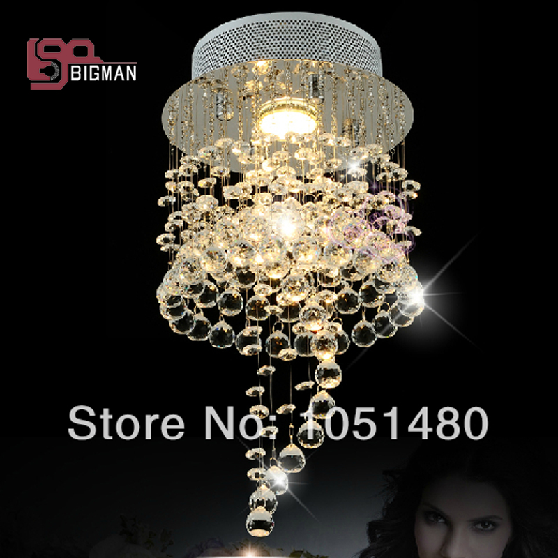 hot sales modern small crystal chandelier hallway light ,contemporary crystal lamp