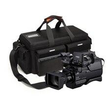 YENI Video DSLR kamera çantası dijital kamera Lens Fotoğraf Vaka Için Canon Panasonic Sony JVC ARRI 0704