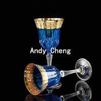 Ручная роспись Золотой Кристалл вина Стекло комплект шампанского флейт фужеров красное вино брака свадебный подарок для молодоженов