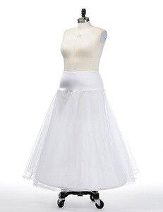 Image 3 - Hot Bridal Slips Wedding Underskirt White Underdress Falda Brautpetticoat Long Crinoline Sottoveste A Line Petticoat Layer 0019