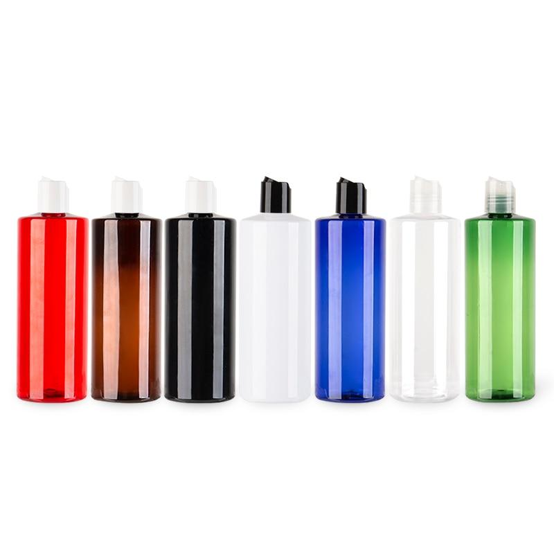 500ML Plastic Disc Screw Cap Bottle PET Cosmetic Shampoo Container Empty Liquid Soap Lotion PET Bottles