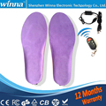 New USB Electric Powered Plush Fur Heating Insoles Winter Keep Warm Foot Shoes Insole soles FOR women and men 2000MAH