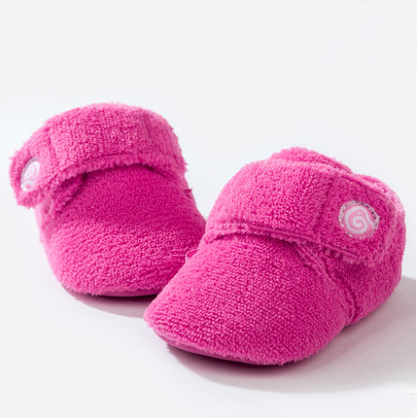 T.S. first walkers Age 0 -1 winter coral fleece cotton-padded toddler shoes children shoes soft outsole First Walkers