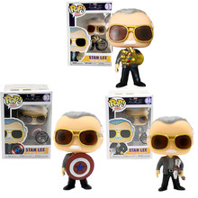 FUNKO POP New Style Marvel Avengers Stan Lee Captain America Thor Vinyl Action Figures toys for Children Christmas Gifts(China)