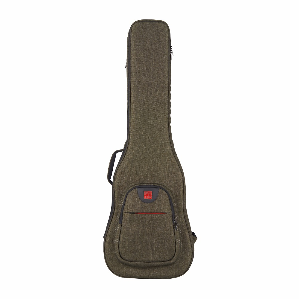 Music Area Electric Guitar Gig Bag Waterproof 900D Polyester Dark Green Soft Guitar Case 30mm Cushion WIND20 EG 12mm waterproof soprano concert ukulele bag case backpack 23 24 26 inch ukelele beige mini guitar accessories gig pu leather