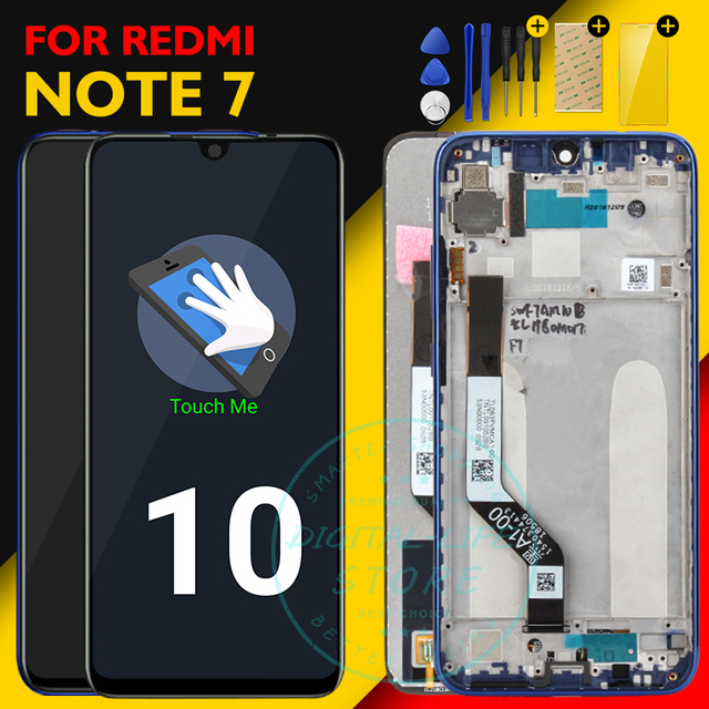 Originale Dello Schermo di Xiaomi Redmi Nota 7 Display LCD 10 Touch Panel Redmi Note7 LCD Digitizer Assembly di Ricambio Parti di Riparazione di Ricambio