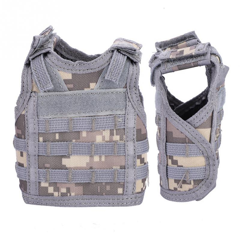 Sports & Entertainment Contemplative Beer Vest Mini Tactic Military Vest For Beer Bottle Miniature Wine Bottle Cover Vest Beverage Cooler Camping Hiking Accessories With Traditional Methods Camping & Hiking