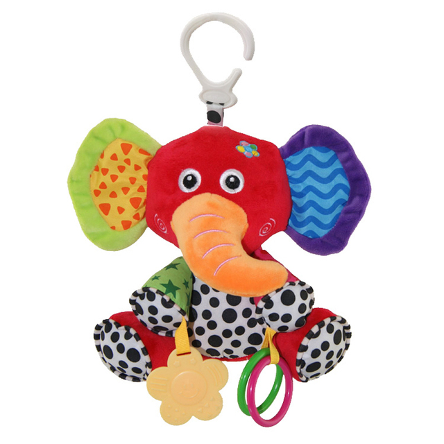 Baby Music Hanging Bell Toy Doll Infant Crib Stroller Cartoon Animal Car Hanging Ring Bell Rattle Toy for Kids