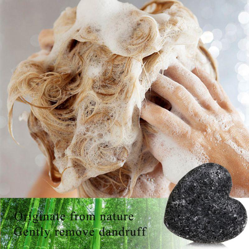 Useful Hair Shampoo Soap Non-Silicon Oil Control Salon Hair Washing Care Clean Dandruff Soap Tool Heart Shape