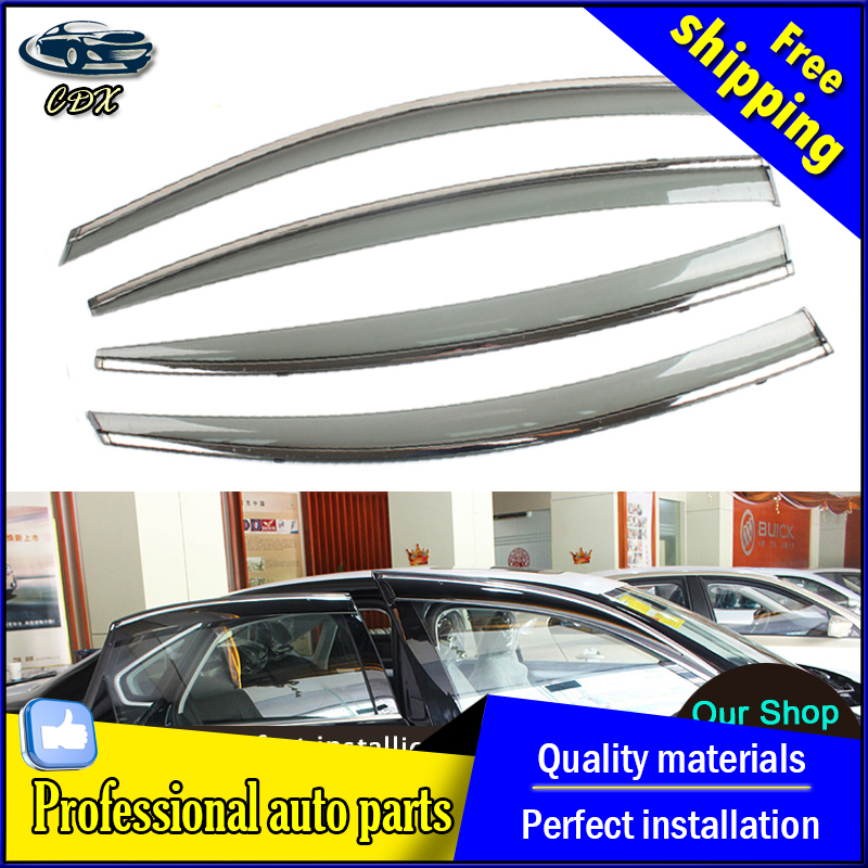 car styling Window Visors For Volkswagen VW Passat B7 Sedan 2012 2013 2014 2015 Sun Rain Shield Car-Styling Awnings Shelters car rear trunk security shield cargo cover for volkswagen vw tiguan 2016 2017 2018 high qualit black beige auto accessories