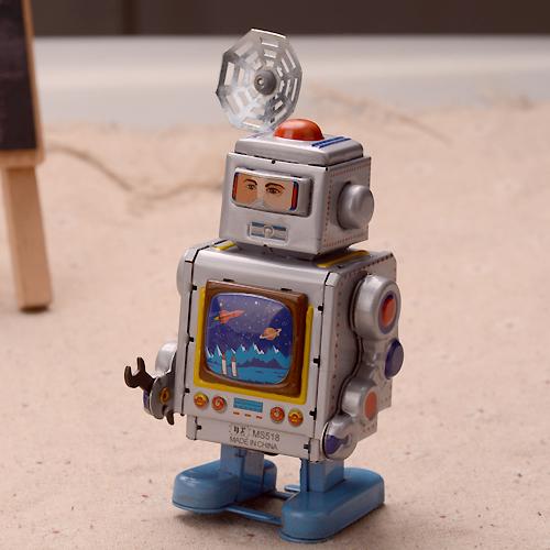 retro astronautas relojera robot terminan juguetes clsicos juguetes de hojalata vintage hecho a mano artesanas herrajes