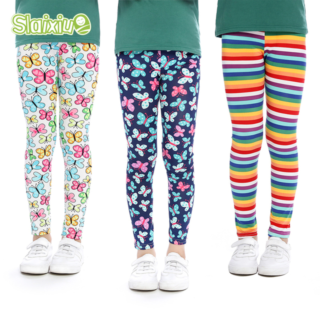ef05957d6d868 US $8.23 30% OFF|Aliexpress.com : Buy 3PCS SLAIXIU Girls Leggings Printing  Flower Legging Infantil Toddler Ankle length Leggings Baby Girl Pencil ...