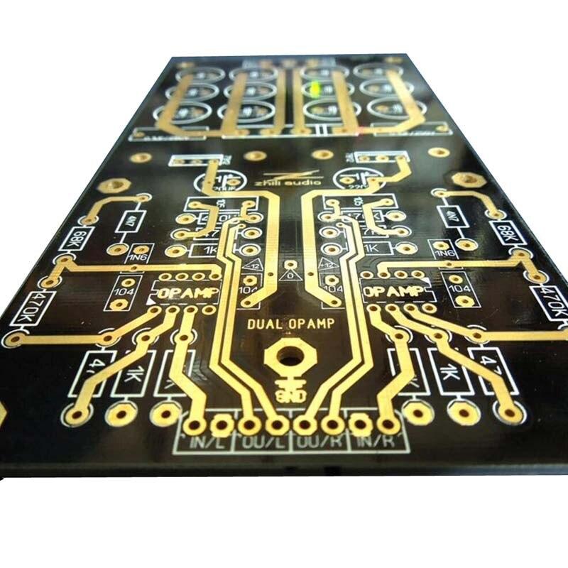 MM carte amplificateur PCBA platines Phono ampli OPA2111KP allemagne double Circuit atténué RIAA violet 35 V Version HIFI bricolage C2-003 - 5