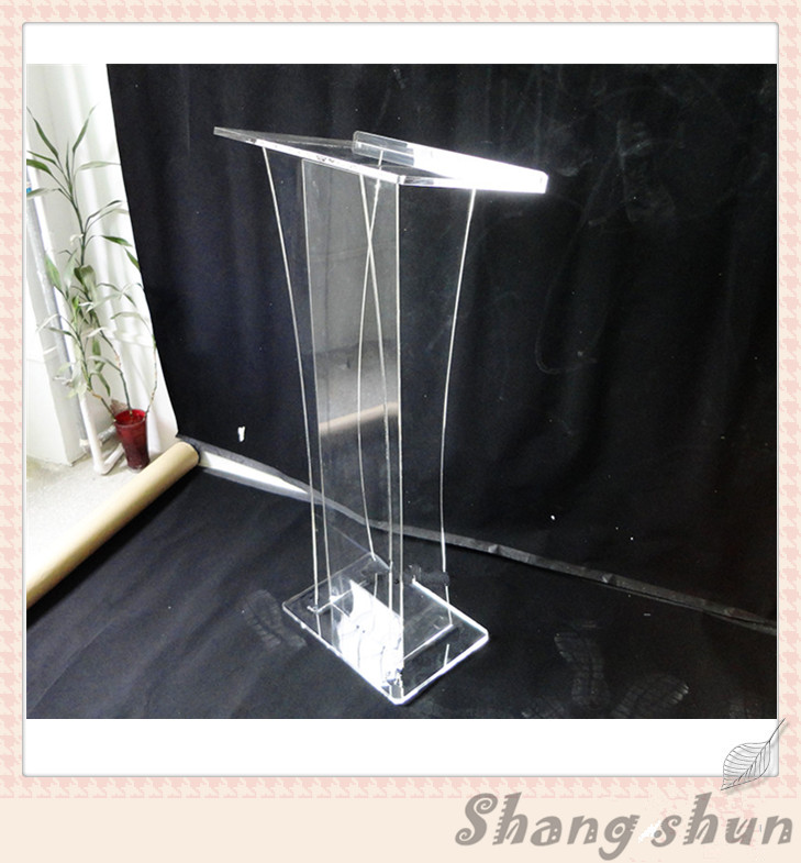 Free shipping plexiglass lectern for church acrylic rostrum lectern cheap podiums/ lectern podium transparent acrylic school lectern acrylic platform perspex rostrum plexiglass dais cheap church podium