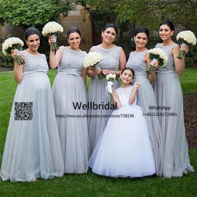 Popular 2017 Plus Size Bridesmaid Dresses With 3d Appliques Long