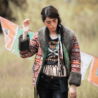 Aporia As Autumn Winter Vintage Retro Ethnic Berber Fleece Collar Indian Totem Print Cowboy Coat Short