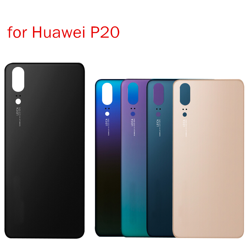 Glue Back-Cover Huawei P20 Glass-Battery Rear-Door-Housing Repair-Spare-Parts for 3M