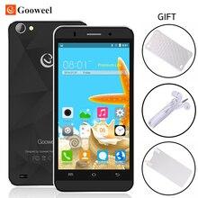 Gooweel m5 pro 3 г смартфон 5 дюймов ips экран mt6580 quad ядро Мобильного Телефона 1 ГБ + 8 ГБ 8.0MP + 5.0MP Камера GPS Сотовый Телефон Бесплатный ПОДАРОК