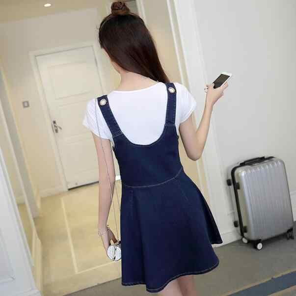 2019 весна лето джинсовые женские Платья офисные джинсы сарафаны корейские Формальные джинсовые синие платья для женщин WF147