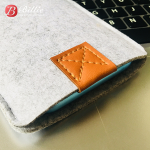 Image 4 - Phone Bag Wool Felt Pouch Protective Case Bag For iPhone XR Cases Cover Mobile Phone Handmade bags For iphone xr 6.1inch Gray
