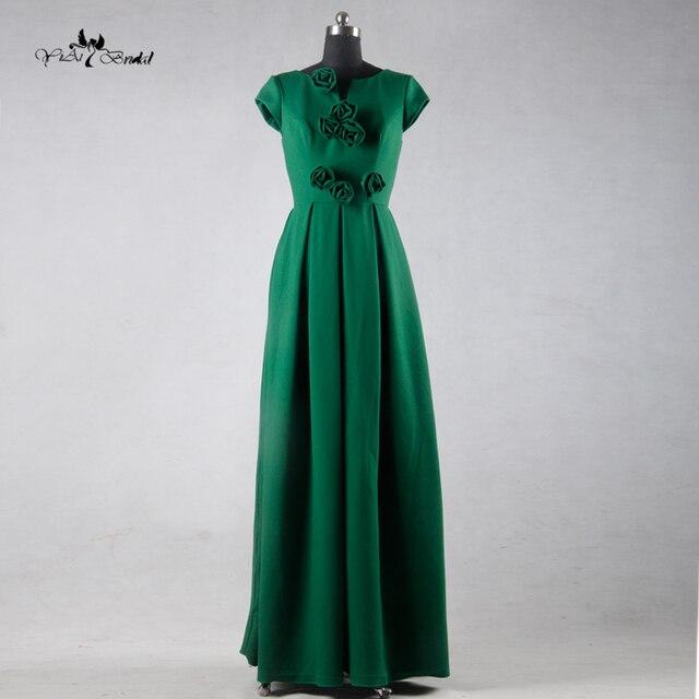 Te009 elegante el diseño más reciente de alta clase hermosa larga Vestidos  vestido de noche verde c32f138de73c